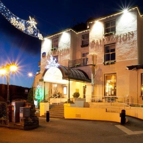 Exterior Shot Hotel Christmas Festive
