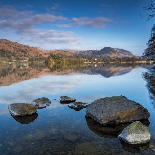 Grasmere Rocks And Reflections
