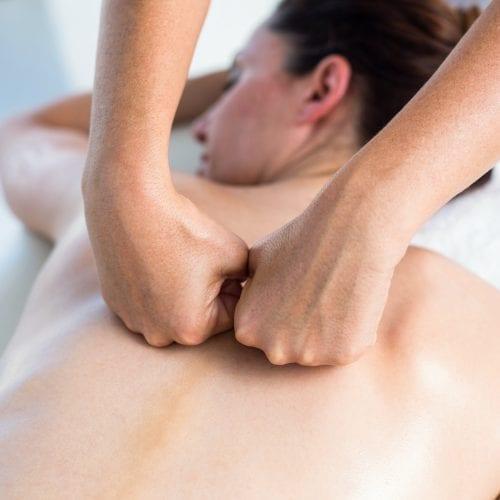 Back massage in health spa