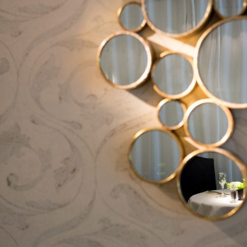 Mirrors in Brasserie
